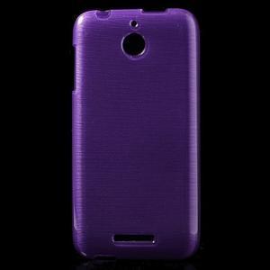 Brushed hladký gélový obal pre HTC Desire 510 - fialový - 1