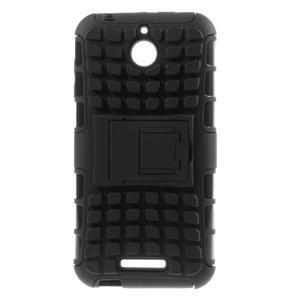 Outdoor odolný kryt pre mobil HTC Desire 510 - čierny - 1