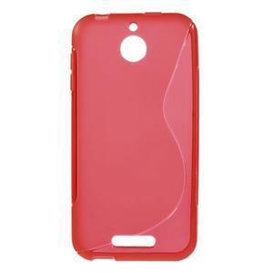S-line gélový obal pre mobil HTC Desire 510 - červený - 1