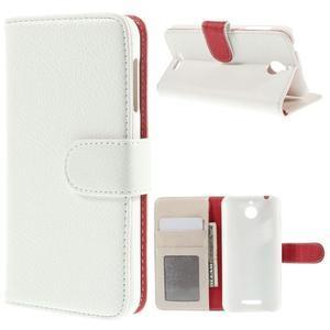 Folio PU kožené pouzdro na mobil HTC Desire 510 - bílé - 1