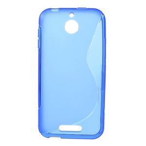 S-line gélový obal pre mobil HTC Desire 510 - modrý - 1