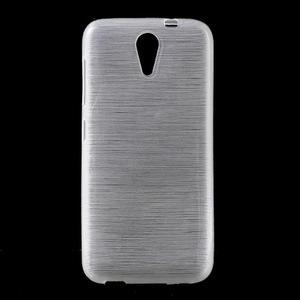Brushed hladký gelový obal na HTC Desire 620 - bílý - 1