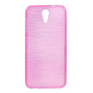 Brushed hladký gelový obal na HTC Desire 620 - rose - 1
