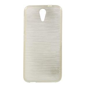Brushed hladký gélový obal pre HTC Desire 620 - zlatý - 1
