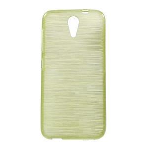 Brushed hladký gélový obal pre HTC Desire 620 - zelený - 1