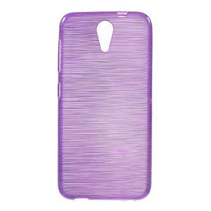 Brushed hladký gélový obal pre HTC Desire 620 - fialový - 1