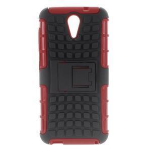 Outdoor odolný obal pre mobil HTC Desire 620 - červený - 1
