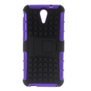 Outdoor odolný obal pre mobil HTC Desire 620 - fialový - 1