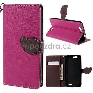 Rose peňaženkové puzdro na Huawei Ascend G7 - 1