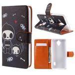 Zapínacie peňaženkové puzdro na Huawei Y635 - fishbone - 1/7