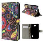 Peňaženkové puzdro na Huawei Y635 - farebné kruhy - 1/7