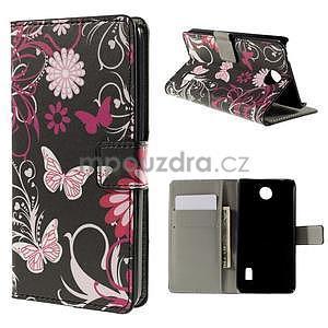 Peňaženkové puzdro na Huawei Y635 - motýlikové - 1