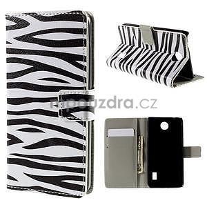Peňaženkové puzdro na Huawei Y635 - zebra - 1