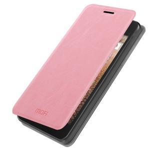 Ružové PU kožené puzdro na Huawei Y635 - 1
