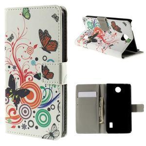 Peňaženkové puzdro na Huawei Y635 - motýle - 1