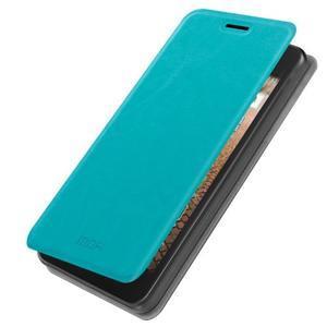 Modré PU kožené puzdro na Huawei Y635 - 1