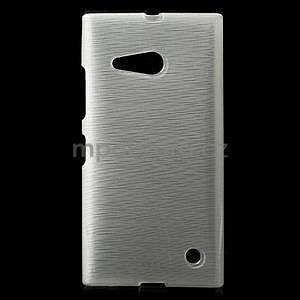 Gélový obal Brush na Nokia Lumia 730/735 -biely - 1