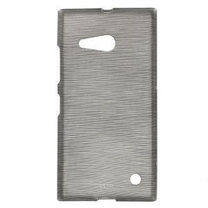 Gélový obal Brush na Nokia Lumia 730/735 - sivý - 1