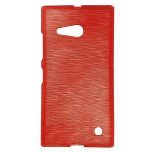 Gélový obal Brush na Nokia Lumia 730/735 - červený - 1