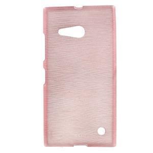 Gélový obal Brush na Nokia Lumia 730/735 - ružový - 1