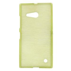 Gélový obal Brush na Nokia Lumia 730/735 - zelený - 1