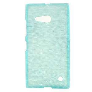 Gélový obal Brush na Nokia Lumia 730/735 - modrý - 1