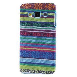 Obal potažený látkou pre Samsung Galaxy A3    - mix barev I - 1