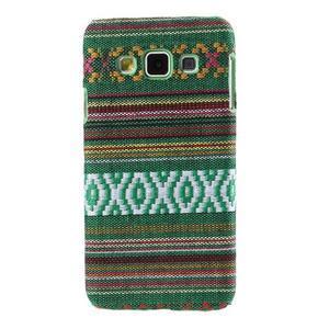 Obal potažený látkou na Samsung Galaxy A3 - zelený - 1
