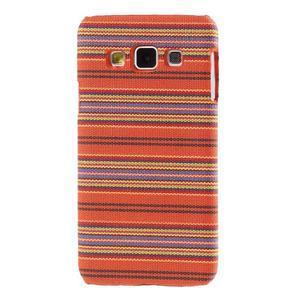 Obal potažený látkou na Samsung Galaxy A3 - oranžový - 1