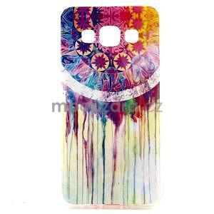 Gélový obal pre Samsung Galaxy A3    - stékající farby - 1