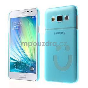 Plastový obal na Samsung Galaxy A3 - modrý - 1