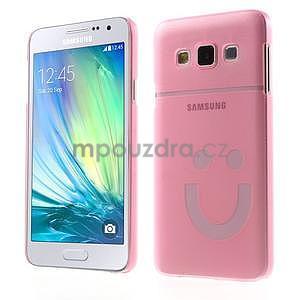 Plastový obal na Samsung Galaxy A3 - růžový - 1