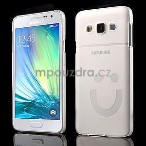 Plastový obal na Samsung Galaxy A3 - biely - 1