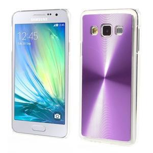 Metalický plastový obal na Samsung Galaxy A3 - fialový - 1
