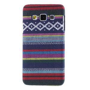 Obal potažený látkou pre Samsung Galaxy A3    - mix barev II - 1