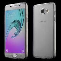 Gelový obal 2v1 pro zadní kryt a displej na Samsung Galaxy A5 (2016) - šedý - 1/6