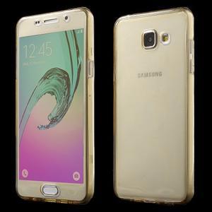 Gélový obal 2v1 pro zadní kryt a displej pre Samsung Galaxy A5 (2016) - zlatý - 1