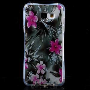 Tvarovaný gelový obal na Samsung Galaxy A5 (2016) - květiny - 1