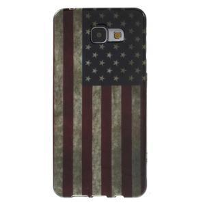 Obal s motívom pre mobil Samsung Galaxy A5 (2016) - US vlajka - 1