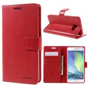 Luxusný PU kožené puzdro pre mobil Samsung Galaxy A5 (2016) - červené - 1
