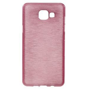 Brush gélový obal pre Samsung Galaxy A5 (2016) - ružový - 1