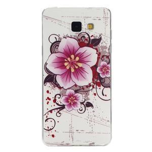 Ultratenký gelový slim obal na Samsung Galaxy A5 (2016) - květ - 1