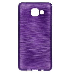 Brush gélový obal pre Samsung Galaxy A5 (2016) - fialový - 1
