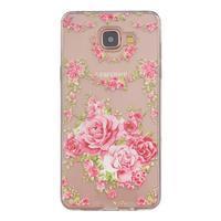 Transparentní gelový obal na Samsung Galaxy A5 (2016) - růže - 1/4