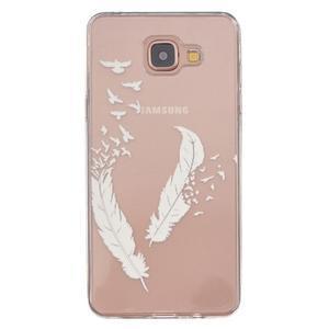 Transparentný gélový obal pre Samsung Galaxy A5 (2016) - vtáčie pierka - 1
