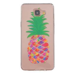 Transparentní gelový obal na Samsung Galaxy A5 (2016) - ananas - 1