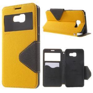 Peňaženkové puzdro s okienkom pre Samsung Galaxy A5 (2016) - žlté - 1