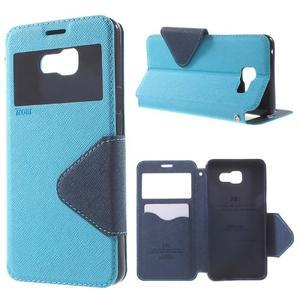 Peňaženkové puzdro s okienkom pre Samsung Galaxy A5 (2016) - svetlomodré - 1