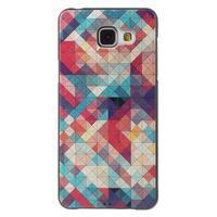 Gelový obal s koženkovým vzorem na Samsung Galaxy A5 (2016) - hexagon - 1/6
