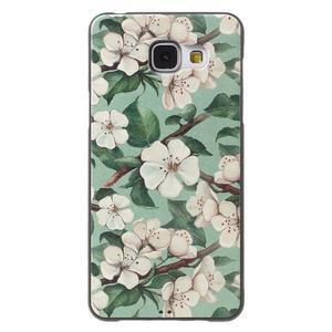 Gélový obal s koženkovým vzorem pre Samsung Galaxy A5 (2016) - kvety - 1